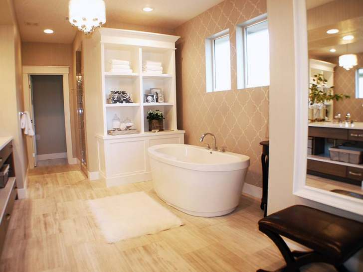 Relaxing Neutral Spa Bathroom Design