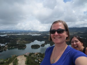 Me photobombing Kim at the top of La Piedra. (pc: Kim On A Whim)