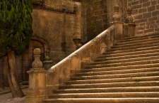 Stairway to heaven. Outside the cathedral.
