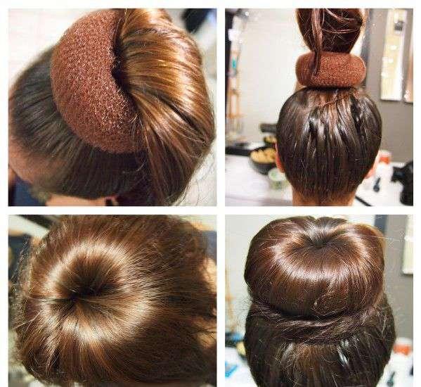 ライニングを使って髪からベーグルを作る方法