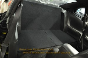 19942004 Ford Mustang Rear Seat Delete | Shrader