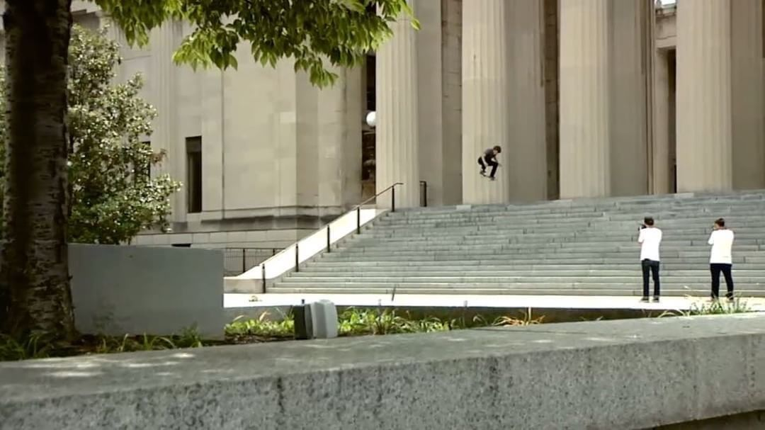 A epic angle of @nick_merlino switch ollie from a few years ago just surfaced on…