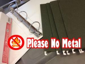 PLEASE No Metal In The Shredder