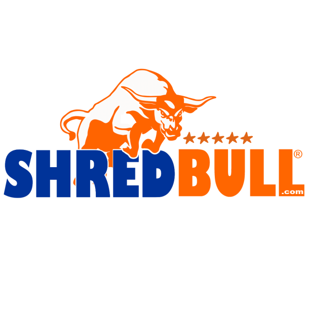 Shred Bull Shredding Logo Irvine California document shredding service