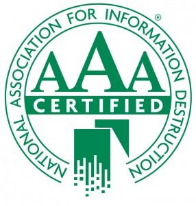 Secure Sherdding Naid AAA Certified