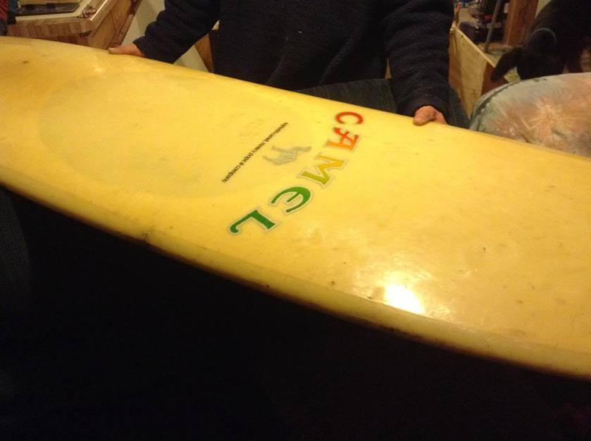 Morey-Pope Camel Surfboard