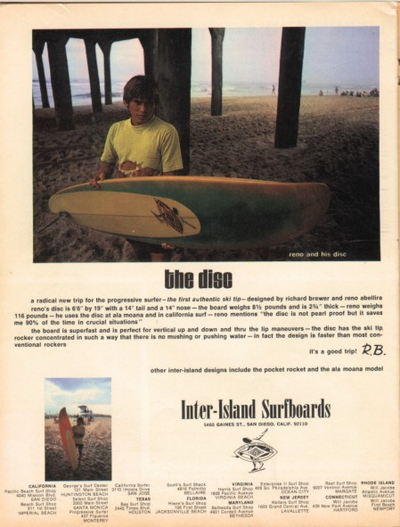 Dick Brewer Reno Abellira Inter-Island The Disc