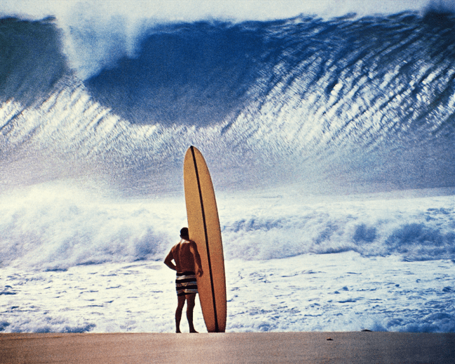 Greg Noll at Pipeline by John Severson