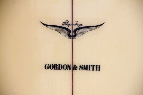 Skip Frye Model for Gordon & Smith Logo