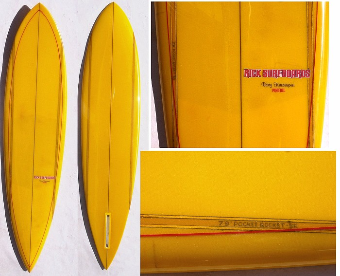 Rick Surfboards Barry Kanaiaupuni Model Pintail Mini Gun.JPG