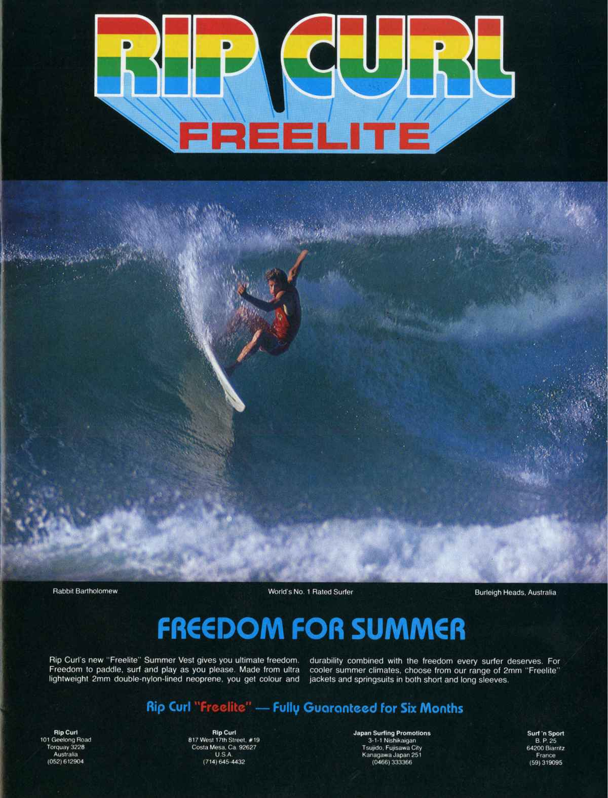 Rip Curl Freelite Ad Featuring Rabbit Bartholomew: Sagas of Shred