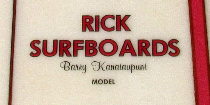 Rick Barry Kanaiaupuni Model Longboard Logo