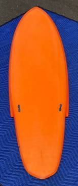 Vintage Infinity Surfboards Single Fin Deck