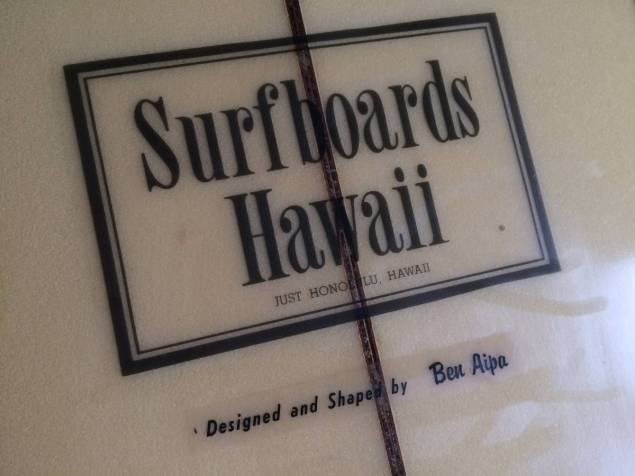 "Surfboards Hawaii Ben Aipa 1970s 8'2"" 2.jpg"