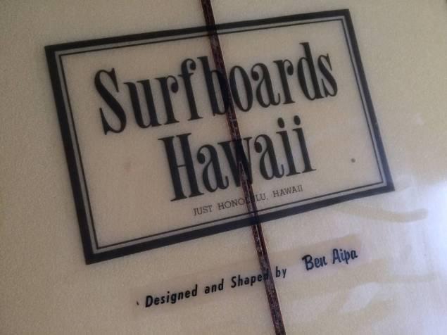 """Surfboards Hawaii Ben Aipa 1970s 8'2"""" 2.jpg"""