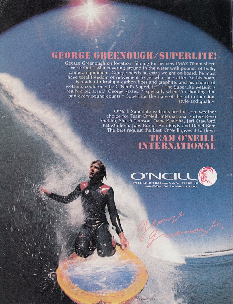 George Greenough for O'Neill: Sagas of Shred