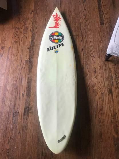 Stussy Surfboard Late Eighties Rasta Logo 6