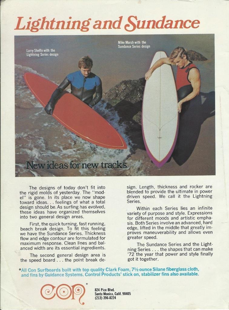 Vintage 70s Con Surfboards Ad: Sagas of Shred