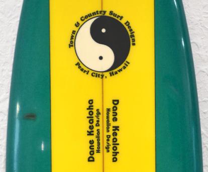 T&C Surf Dane Kealoha Surfboard Logo