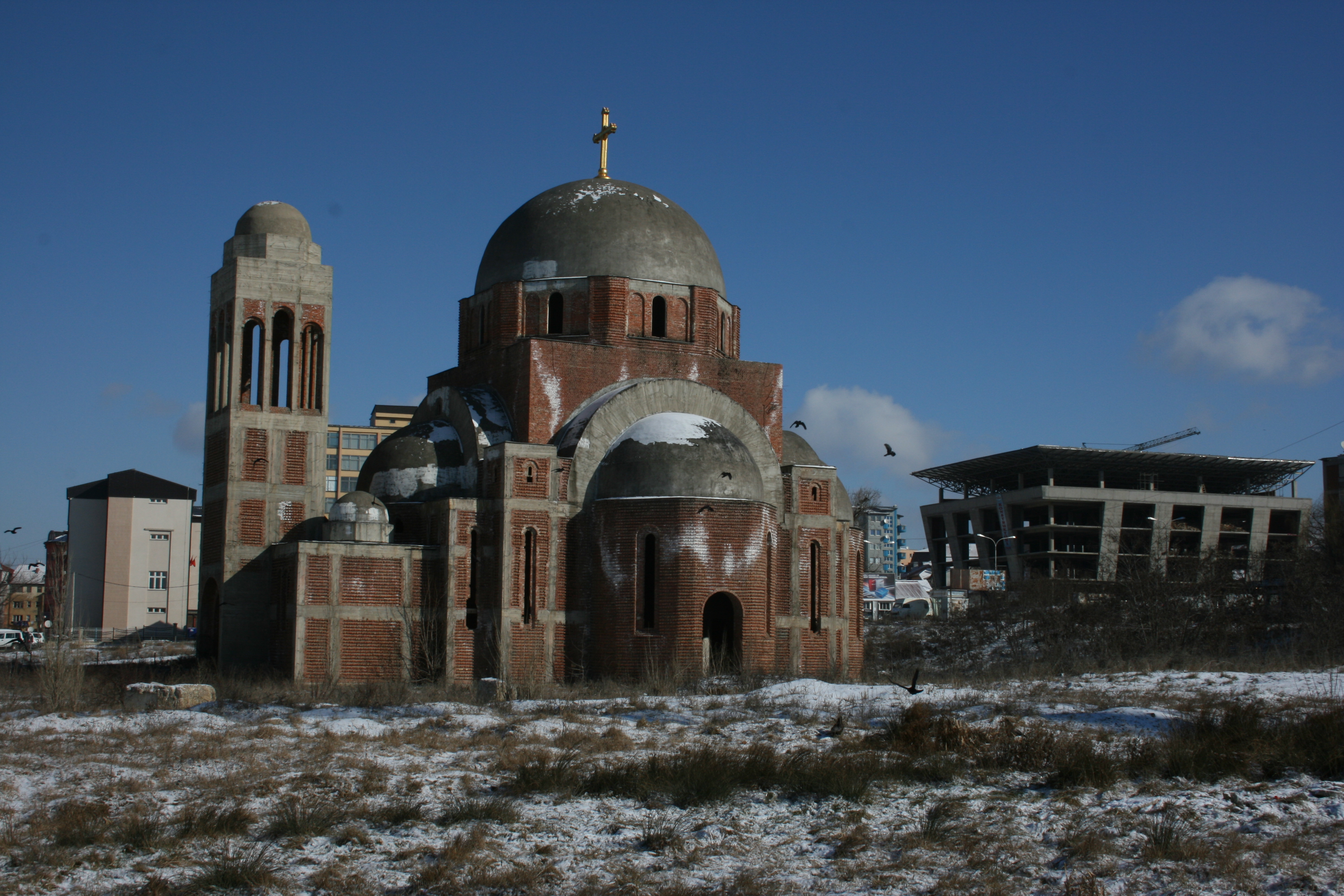 . . . and next door, the unfinished Serbian church