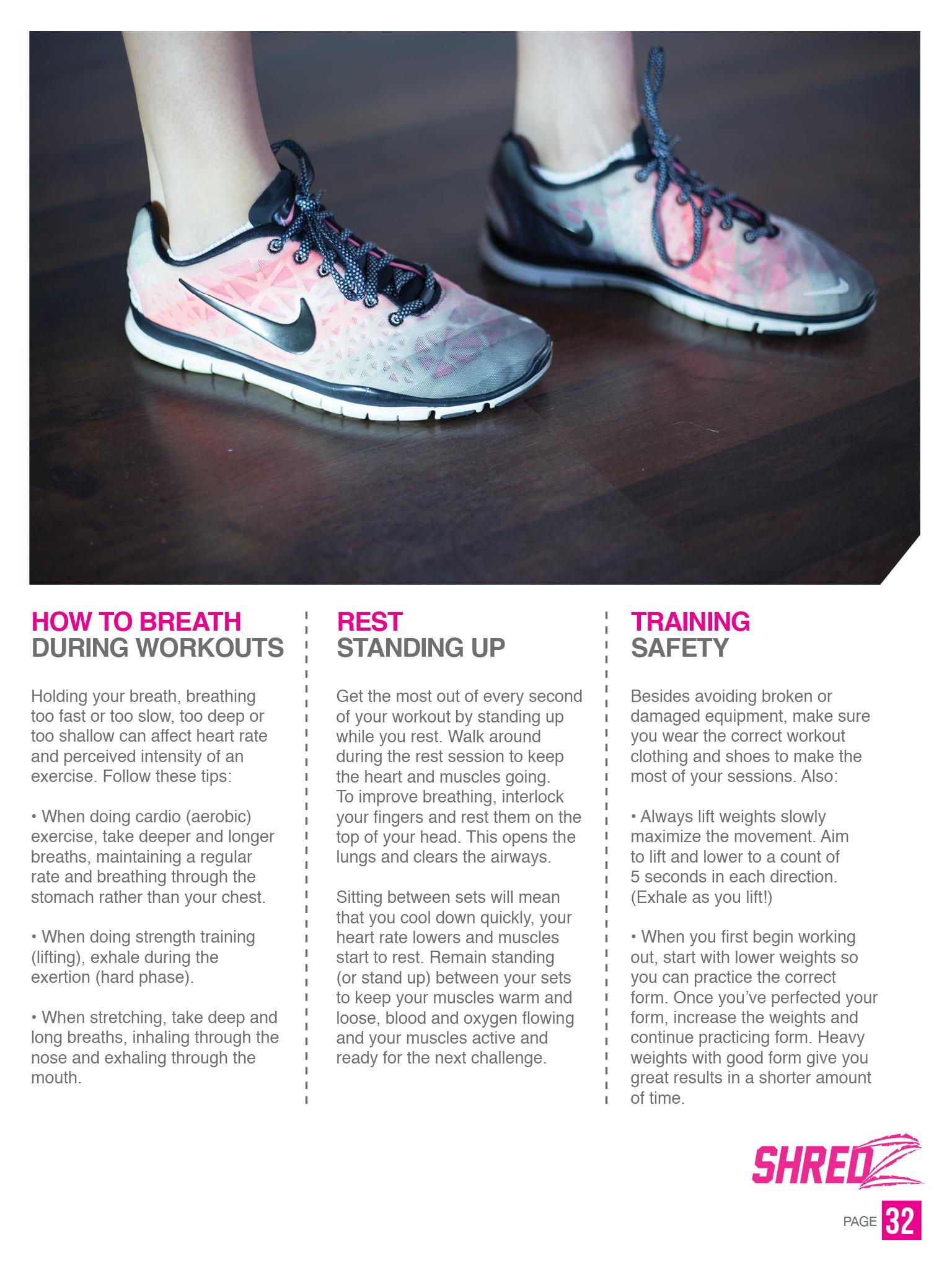 shredz home workout guide