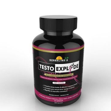 Testo Xplode Testosterone Booster for Men- 5 Bottles