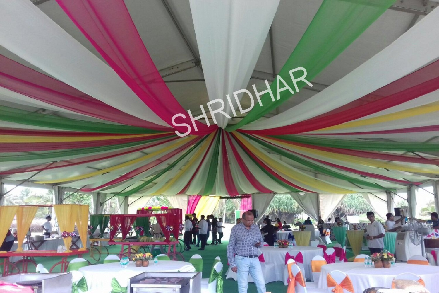 steel chair for tent house posture ball shridhar services supplier in bangalore karnataka tents canopies shamianas tables chairs carpets rent weddings