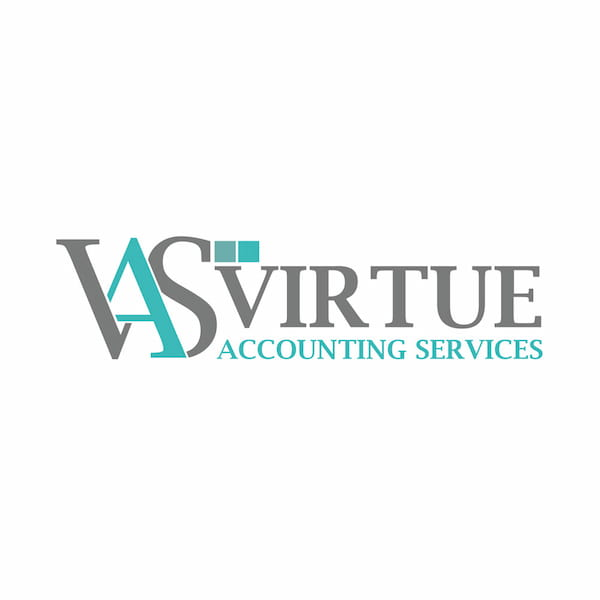Virtue Accounting Services logo blue and grey