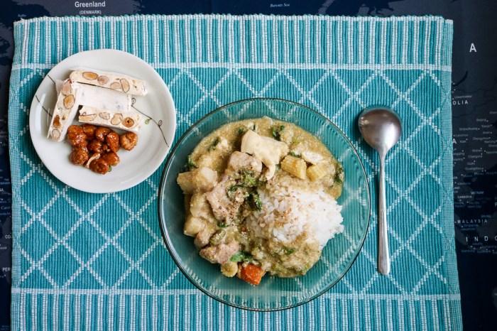 泰式綠咖哩雞豬壓力鍋食譜做法椰漿-1