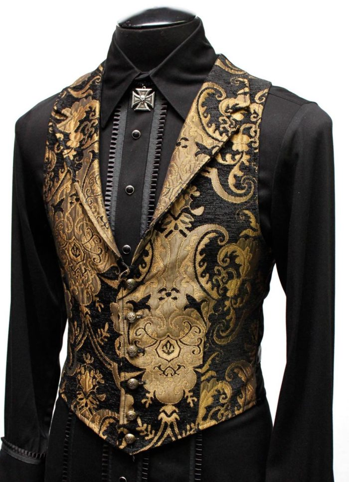 Black And Gold Suit : black, ARISTOCRAT, GOLD/BLACK, TAPESTRY, Shrine, Hollywood