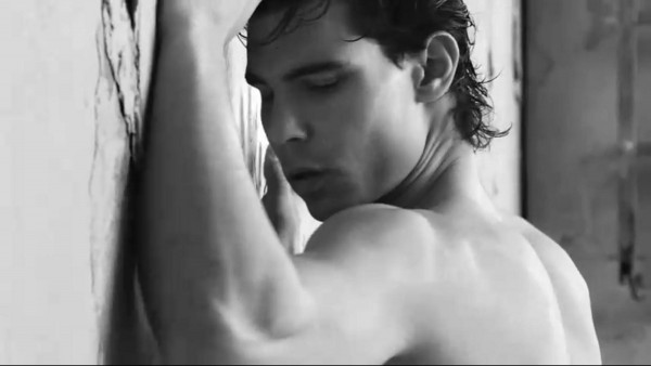 Rafa wall biceps muscles profile close-up Nadal Armani underwear photo shoot pictures photos