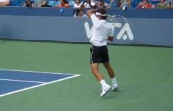 Rafa Nadal swing practice Cincinnati Open