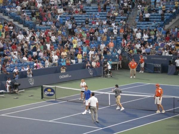 Roger Federer James Blake Cincinnati Open match pictures photos