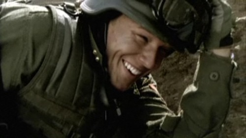 Kings David Shepherd Christopher Egan 2009 March battlefield helmet smile screencaps