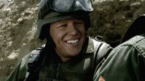 Kings David Shepherd Christopher Egan 2009 March battlefield helmet smile grin screencaps 81