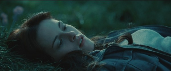 Twilight Bella Swan Kristen Stewart lying down close up grass screencaps images pictures photos screengrabs stills movie