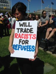 SF rally 8.26.17 Will Trade Racists for Refugees