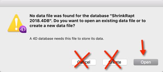 Open Data File Dialog