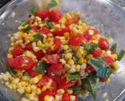 Corn Tomota Basil Salad