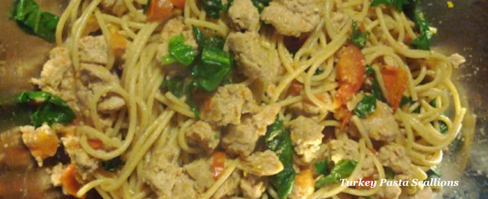 Ground Turkey & Pasta Primavera
