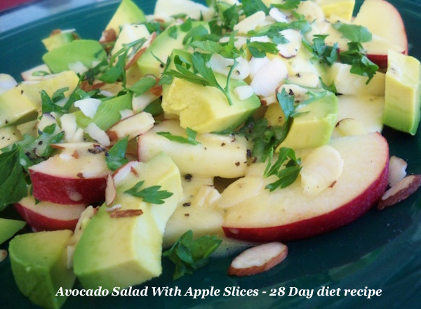 Avocado Salad Apple Slices