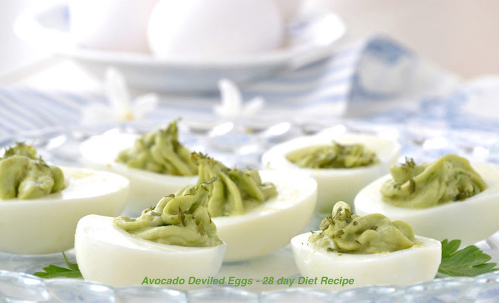 Avocado Deviled Eggs - 28 day Diet