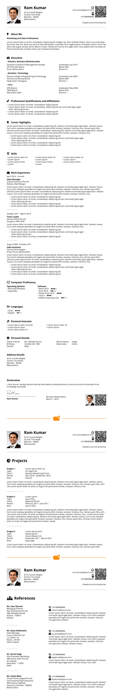 Official Resume Format Download Resume Formats In Word And Pdf