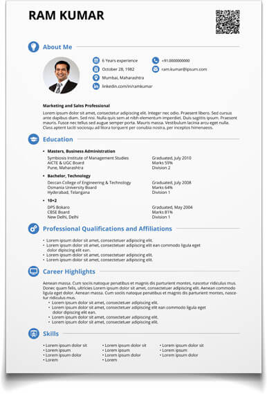 shri resume templates free download