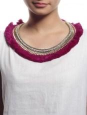 Fuschia Plume Necklace