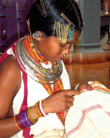 Dongria Woman embroidery