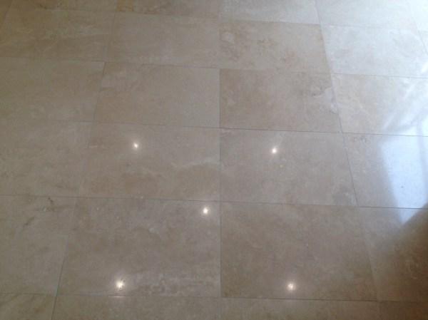 Travertine Floor After Polishing in Priorslee Telford
