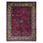 9 X11 8 Beet Red Antique Chinese Art Deco Good Condition Clean Hand Knotted Oriental Rug