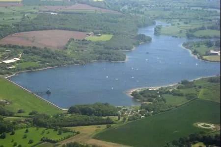 staunton harold sailing club aerial view