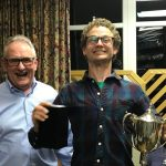 "George Crammond - winner Frostbite Slow Handicap and winner ""Most Improved Sailor"""